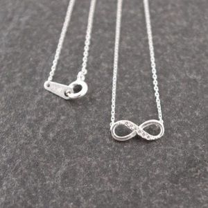 5 for $25 silver CZ infinity necklace new